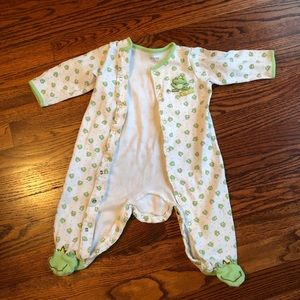 Frog footed sleep and play by Little Me size 9m